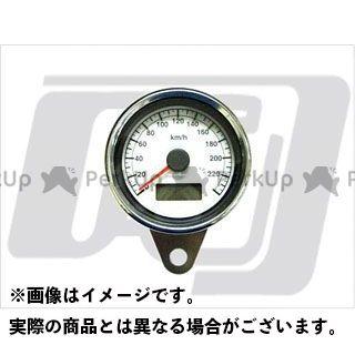 ガッツクローム ハーレー汎用 60mmスピードメーター白 1995年以降 電気式 GUTS CHROME