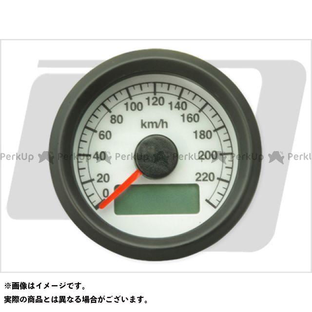 ガッツクローム ハーレー汎用 電気式アジャスタブルスピードメーター ボディ:黒 文字:白 GUTS CHROME