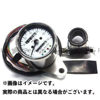 ガレージT&F 汎用 機械式ミニスピードメーター(ホワイト) インジケーター内蔵 ガレージティーアンドエフ
