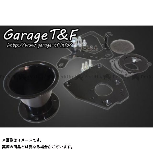ガレージT&F シャドウ400 エアクリーナー ファンネルエアクリーナーキット ブラック