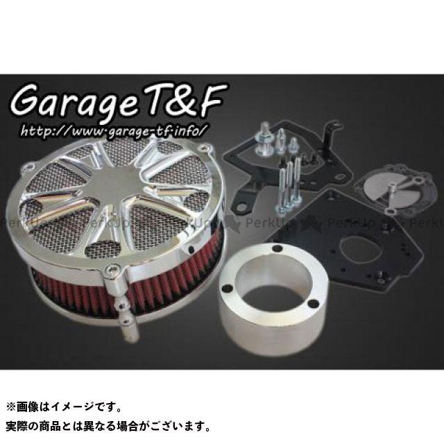 ガレージT&F シャドウ400 ラグジュアリーエアクリーナーキットスター カラー:メッキ ガレージティーアンドエフ