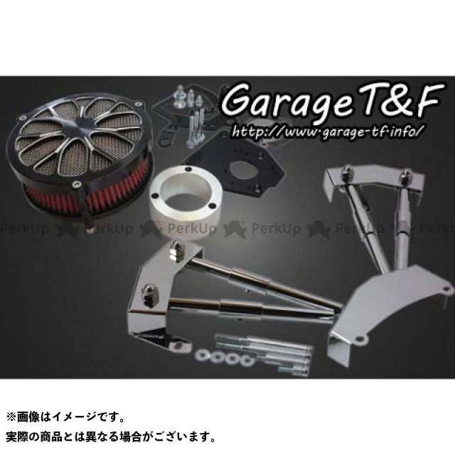 ガレージT&F シャドウ400 エアクリーナー ラグジュアリーフラワー&プッシュロッドカバーセット コントラスト