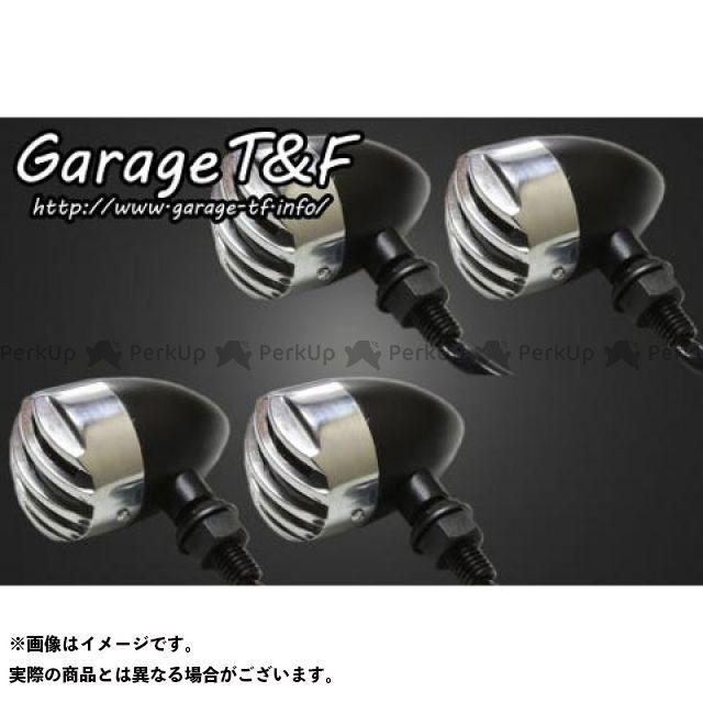 ガレージT&F 汎用 ウインカー関連パーツ バードゲージウィンカータイプ1(ブラック) ダークレンズ仕様 ポリッシュ ステーF