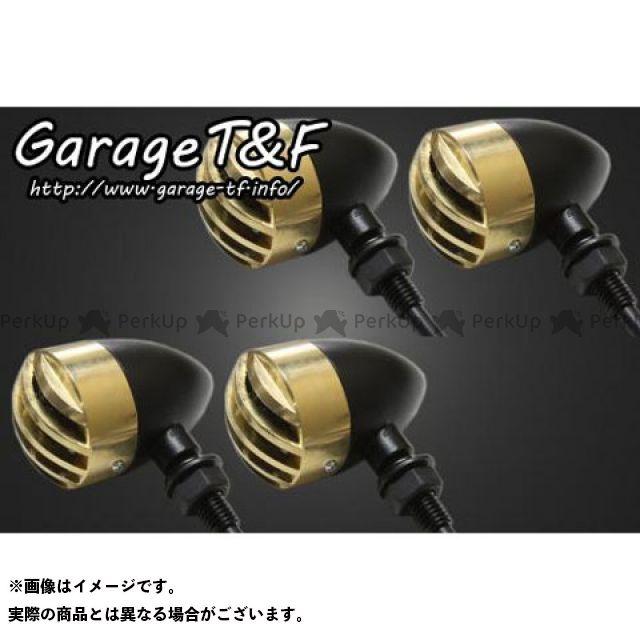 ガレージT&F 汎用 ウインカー関連パーツ バードゲージウィンカータイプ1(ブラック) ダークレンズ仕様 真鍮 ステーA