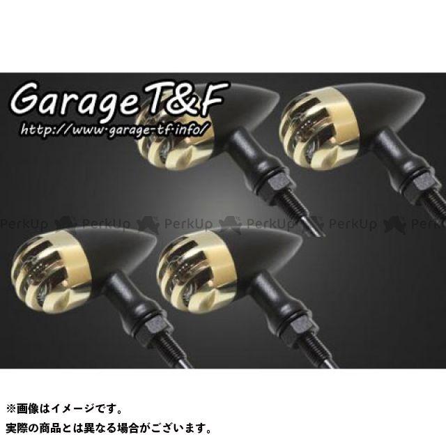 ガレージT&F 汎用 ウインカー関連パーツ バードゲージウィンカータイプ2(ブラック) ダークレンズ仕様 真鍮 ステーB