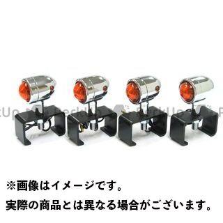ガレージT&F 汎用 マイクロウィンカー(4ヶセット) ウィンカー:メッキ ステー:ステーA ガレージティーアンドエフ