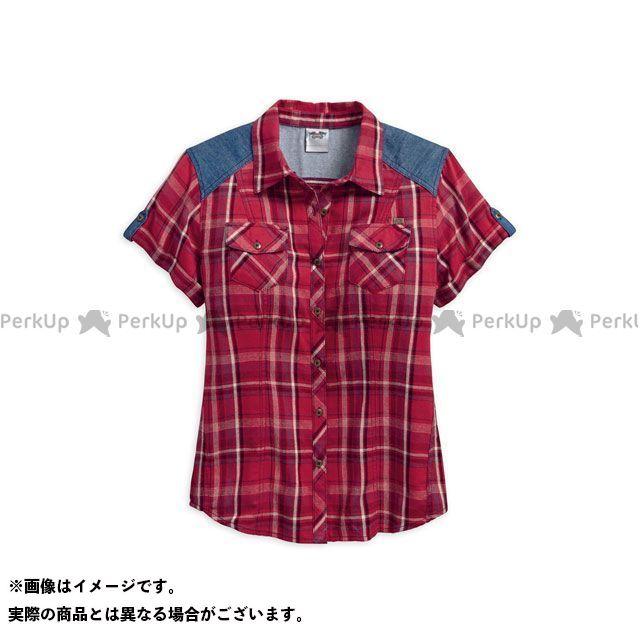 ハーレーダビッドソン LD'S Denim Accent Plaid Shirt S HARLEY-DAVIDSON