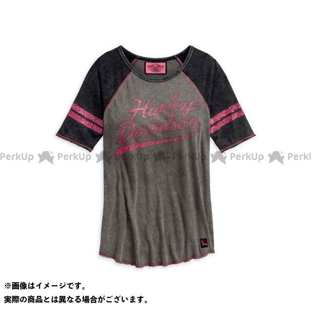 ハーレーダビッドソン LD'S Pink Label Raglan Sleeve Tee XS HARLEY-DAVIDSON
