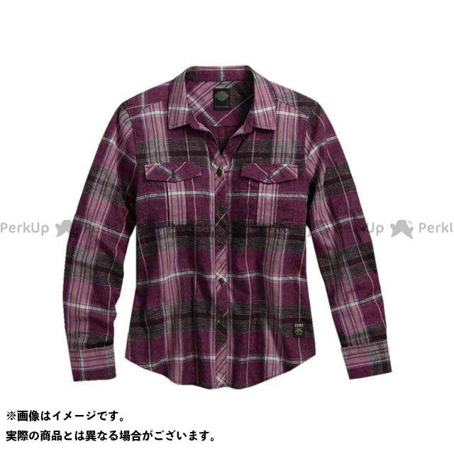 ハーレーダビッドソン LD'SシャツL/S /Plaid Roll-Tab SleeveShirt XS HARLEY-DAVIDSON