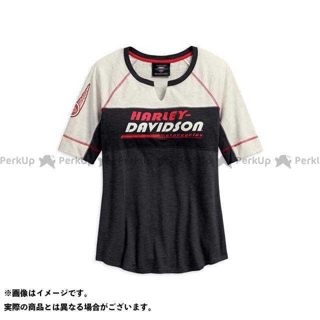 ハーレーダビッドソン LD'STシャツS/S /Notch Neck Colorblock Top サイズ:M HARLEY-DAVIDSON
