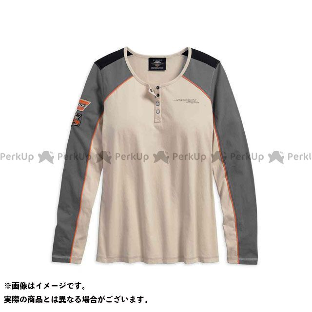 ハーレーダビッドソン LD'S TシャツL/S /Screamin' Eagle Henley M HARLEY-DAVIDSON