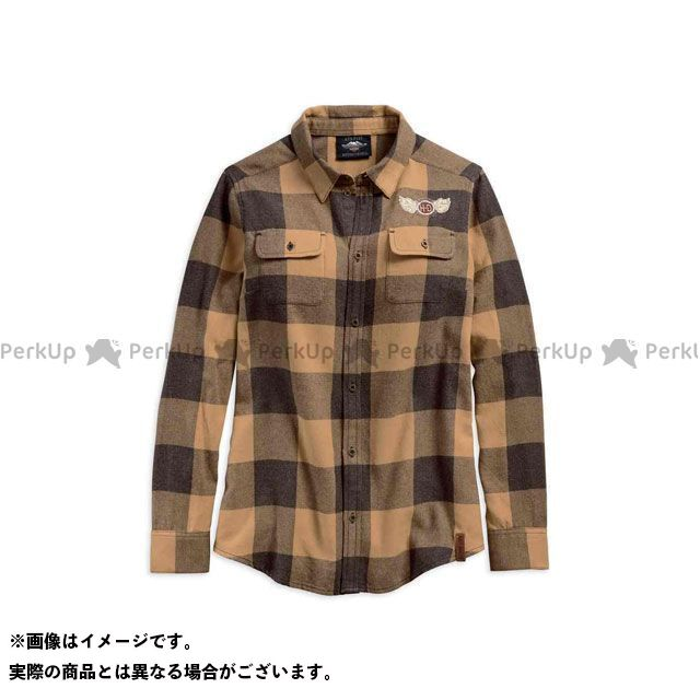 ハーレーダビッドソン LD'SシャツL/S/Winged H-D Plaid Shirt M HARLEY-DAVIDSON