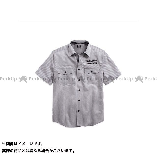 ハーレーダビッドソン シャツS/S Wrinkle-Resistant StripedShirt サイズ:M HARLEY-DAVIDSON