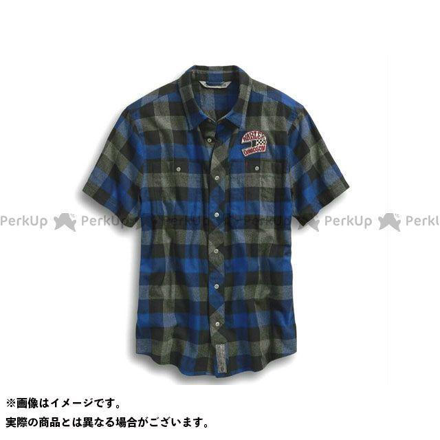 ハーレーダビッドソン シャツS/S /03 Plaid SlimFit Shirt サイズ:L HARLEY-DAVIDSON