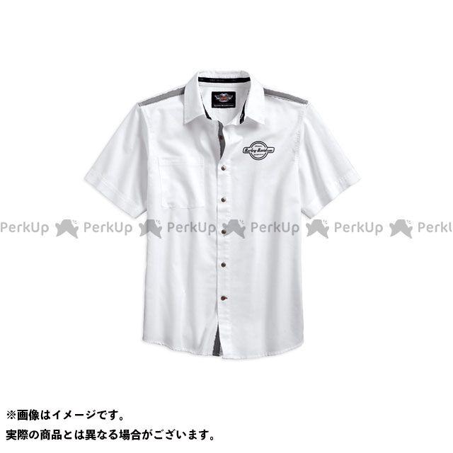 ハーレーダビッドソン シャツS/S Contrast ShoulderStripe Shirt サイズ:L HARLEY-DAVIDSON