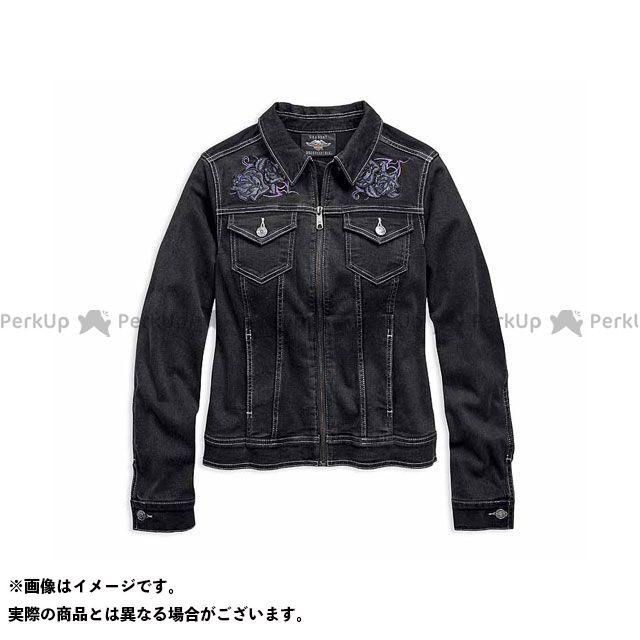 ハーレーダビッドソン Ladies JKT/ Rose Black Denim Jacket XS HARLEY-DAVIDSON