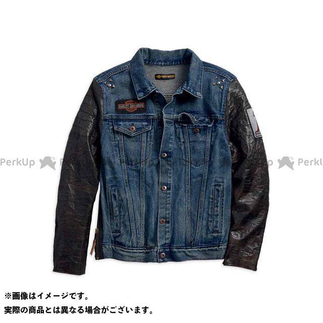 ハーレーダビッドソン デニムJKT/ #1 Leather Sleeve Slim Fit Denim Jacket M HARLEY-DAVIDSON