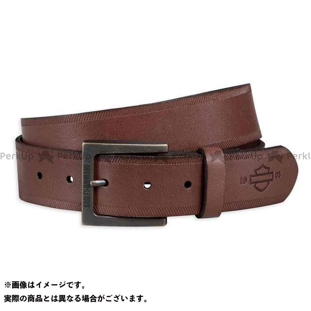 【エントリーで更にP5倍】ハーレーダビッドソン レザーベルト/ Debossed Leather Belt サイズ:34 HARLEY-DAVIDSON