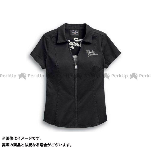 ハーレーダビッドソン LD'SシャツS/S Freedom Zip-Front Shirt M HARLEY-DAVIDSON