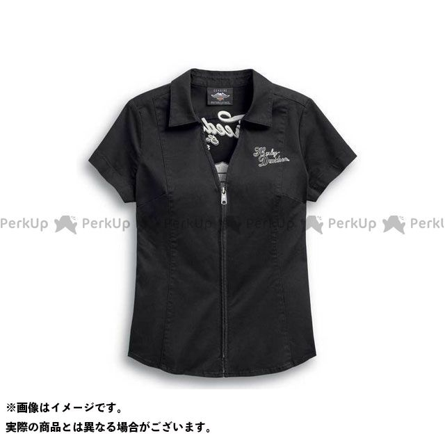 ハーレーダビッドソン LD'SシャツS/S Freedom Zip-Front Shirt XS HARLEY-DAVIDSON