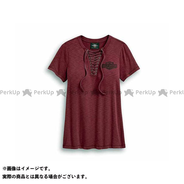 ハーレーダビッドソン LD'S Tシャツ/Freedom Laced Neckline Tee XS HARLEY-DAVIDSON