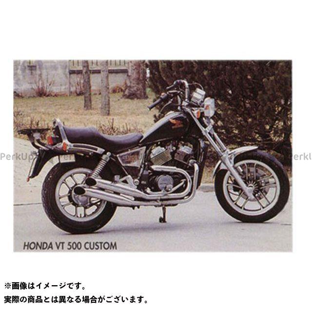 【エントリーで最大P21倍】マービング VT500アスコット マービング デュアルマフラー Legend クロム for Honda VT 500 CUSTOM Marving