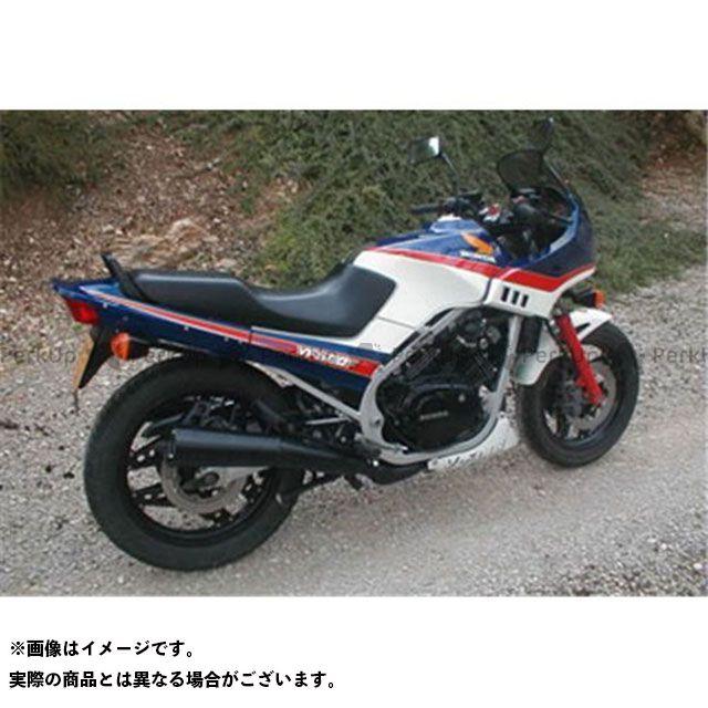 マービング その他のモデル マービング デュアルマフラー Master ブラック - EU公道走行認可 for Honda VF 500 F Marving