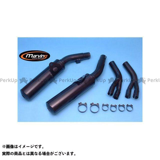 マービング VFR750F インターセプター マービング デュアルマフラー Cylindrical 110 ブラック - EU公道走行認可 for Honda VFR 750 F (86-87) Marving