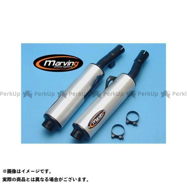 マービング GSX750F マービング デュアルマフラー Cylindrical 100 ブラック + アルミニウム - EU公道走行認可 for Suzuki GSX 750 F 90 Marving