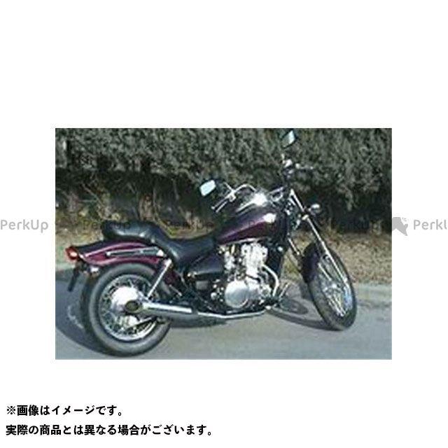 マービング EN500 マービング デュアルマフラー Custom Silenced クロム for Kawasaki EN 500 CLASSIC (96) Marving
