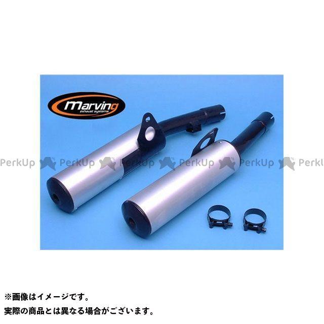 マービング GPX600R マービング デュアルマフラー Cylindrical 100 ブラック + アルミニウム - EU公道走行認可 for Kawasaki GPZ 600 R/GP Marving
