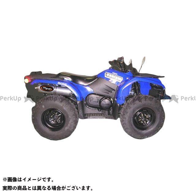 マービング ATV・バギー マービングマフラー Single Big Oval Quad Atv Line アルミ (クワッド・4輪バイク)YFM 400/450 Kodiak/450 Wolverine 200 Marving