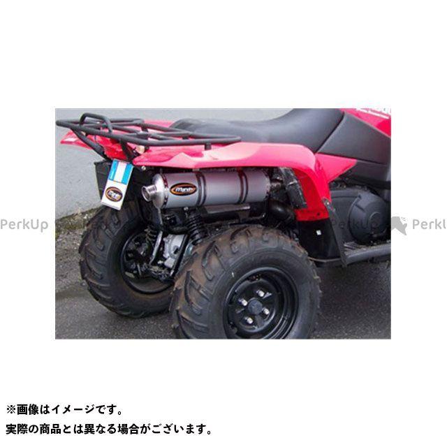 マービング ATV・バギー マービングマフラー Single Big Oval Quad Atv Line アルミ (クワッド・4輪バイク)KING QUAD 700/750 2009 > SUZUKI Quad Marving