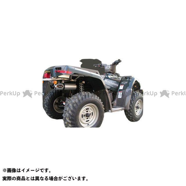 マービング ATV・バギー マービングマフラー Single Round Φ 100 Quad Atv Line アルミ (クワッド・4輪バイク)OUTLANDER 400 2005> CAN AM Quad - Marving