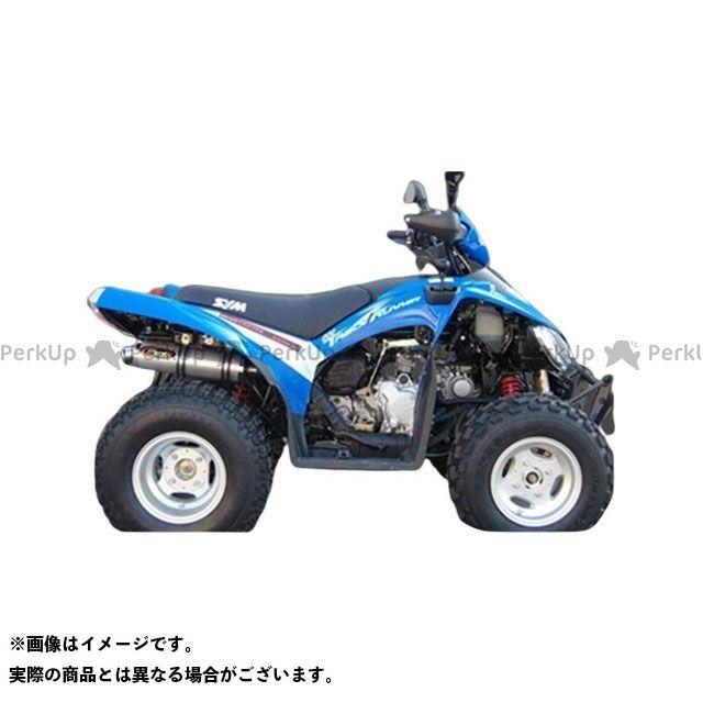 マービング ATV・バギー マービングマフラー Single Round Φ 100 Quad Atv Line アルミ (クワッド・4輪バイク)TRUCK RUNNER 200 2006 > SYM Quad  Marving