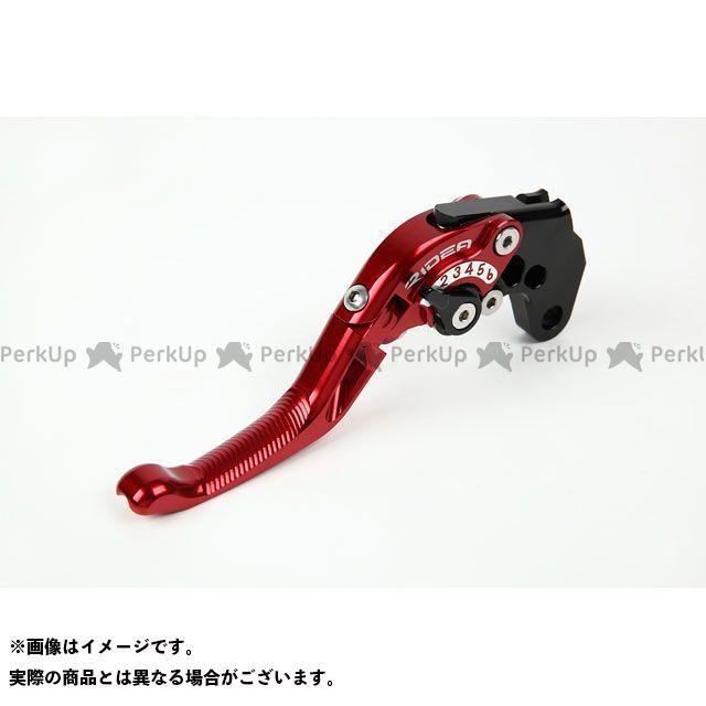 リデア GSX-R1000 GSX-R600 GSX-R750 可倒式アジャストショートクラッチレバー(レッド) ゴールド RIDEA
