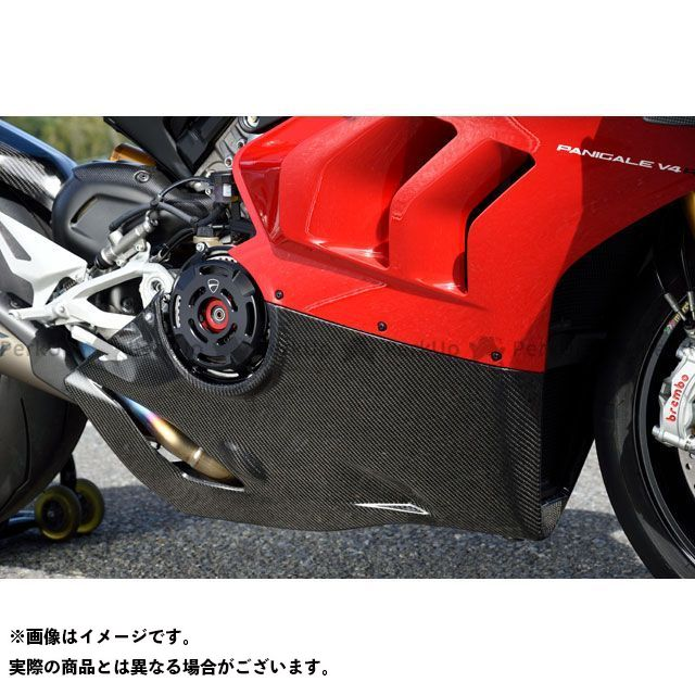 【特価品】マジカルレーシング パニガーレV4R アンダーカウル アクラポビッチフルエキ用 材質:FRP黒 Magical Racing