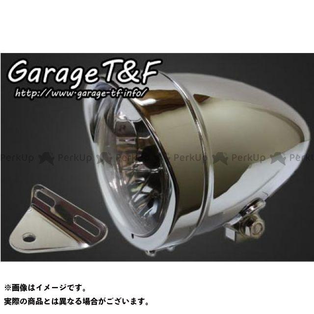ガレージT&F スティード400 4.5インチロケットライト&ライトステー(タイプA)キット カラー:メッキ ガレージティーアンドエフ