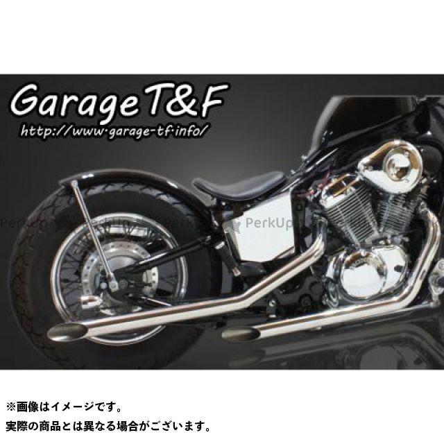 ガレージT&F スティード400 ドラッグパイプマフラー(ステンレス) タイプI ガレージティーアンドエフ