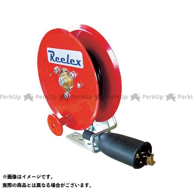 Reelex 手動巻アースリール 0.75SQ×10m 50Aアースクリップ付  Reelex