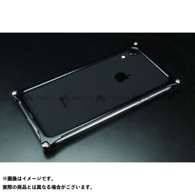 GILD design(mobile item) GI-424B ソリッドバンパー for iPhone XR(ブラック) GILD design