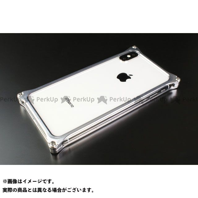 GILD design(mobile item) GI-422S ソリッドバンパー for iPhone Xs/X(シルバー) GILD design