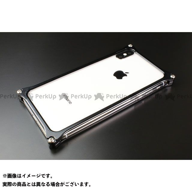 GILD design(mobile item) GI-422B ソリッドバンパー for iPhone Xs/X(ブラック) GILD design