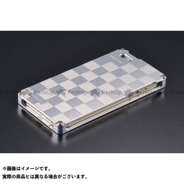 GILD design(mobile item) GI-261IS 市松 for iPhone SE/5s/5(シルバー) GILD design