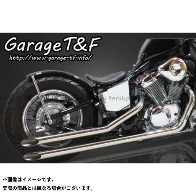 ガレージT&F スティード400 ロングドラッグパイプマフラー タイプ1 ステンレス