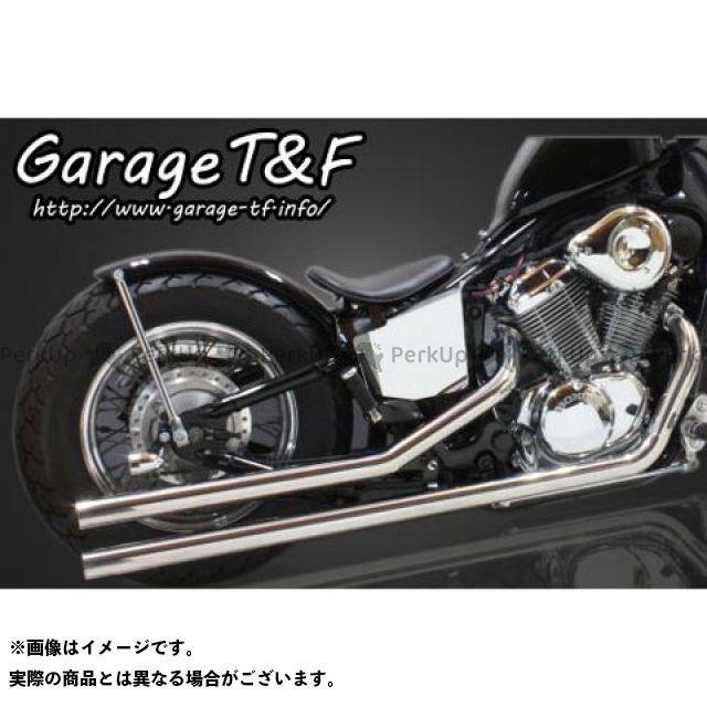 ガレージT&F スティード400 ロングドラッグパイプマフラー タイプ2 ステンレス エンド無し