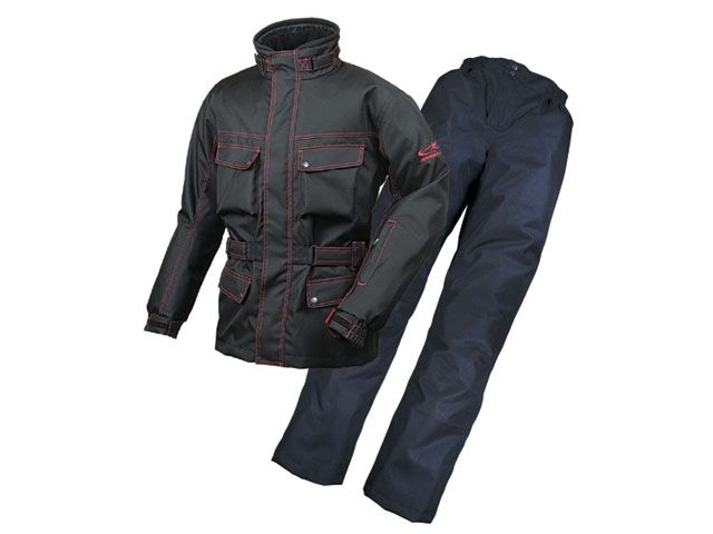 送料無料 ラフ&ロード ラフアンドロード ジャケット RR6515 エキスパートウインタースーツ ブラック×レッド LL