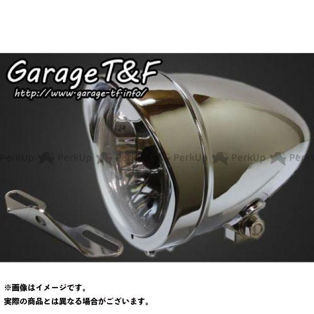 カラー:メッキ バルカン400クラシック T&F 【エントリーで最大P23倍】ガレージT&F 4.5インチロケットライト&ライトステー(タイプB)キット