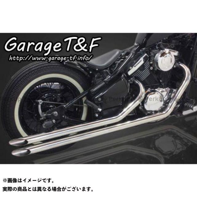 ガレージT&F ロングドラッグパイプマフラー タイプ1 カラー:ステンレス ガレージティーアンドエフ