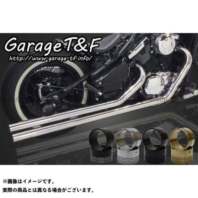 ガレージT&F ロングドラッグパイプマフラー タイプ2 カラー:ステンレス タイプ:エンド無し ガレージティーアンドエフ